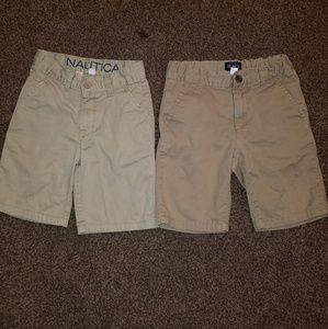 2 pair boys cargo shorts sz 7.